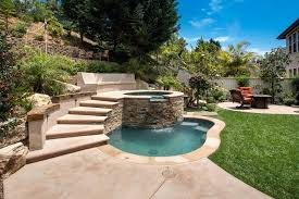 spool spa pool traditional with concrete bench patio image by combo97