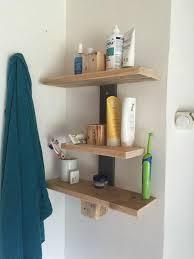 Pallet Wall Bathroom Precious Pallet Wood Diy Bathroom Shelves Diyideacentercom