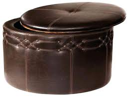 round leather ottoman. Large Round Leather Ottoman Coffee Table Black Bench . F