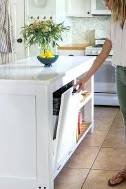 diy kitchen updates kitchen island with trash pull out and quartz counters diy small kitchen remodel