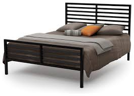 Amisco Theodore Metal Bed, Cobrizo/Textured Dark Brown, Full modern -platform-