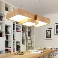 office pendant lighting. modern wooden led pendant light fixtures for restaurant kitchen creative office lamp wood lighting