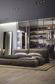 Bedroom, Modern Mens Bedroom With Decorating Ideas Brown Wall And Curtains  Also Recessed Lighting: Masculine Mens Bedroom Ideas with Guy Decorations