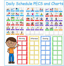 Daily Routine Picture Schedules With Pecs