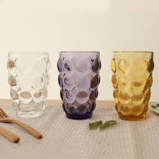12 oz crystal hobnail carving red wine glass tumblers