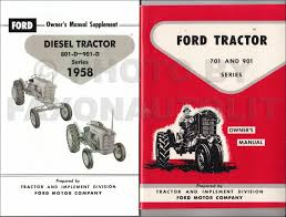 cd 1955 1960 ford 600 thru 901 series tractor repair shop manual 1958 1962 ford 701 901 series tractor diesel owner s manual set reprint