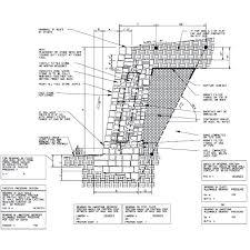 stone retaining wall detail stone wall diagram stone masonry retaining wall section