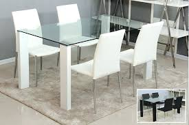 Modern Glass Dining Room Sets Modern Glass Top Dining Table Modern