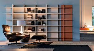 high bookcase  wallmounted  contemporary  wooden  citylife
