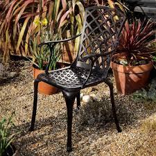 emma metal garden chair in antique