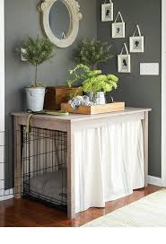 wood crate furniture diy. beautify your dogu0027s crate with this simple table build wood furniture diy s