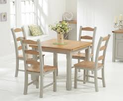 cream compact extending dining table: somerset cm oak and grey flip top extending dining table with somerset chairs