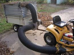 leaf vacuum by dsergison homemade leaf vacuum powered by a 6 hp easy rake lawn vacuum
