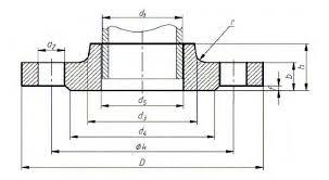 Pn16 Flange Chart Din 86030 Pn16 Hubbed Slip On Flanges For Welding Dimensions