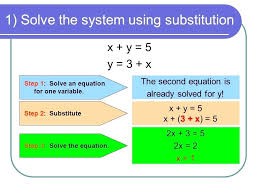 solving systems of linear equations by graphing calculator math 1 solve the system using substitution x y