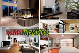 stylish corner fireplaces sleek corner fireplaces with modern flair