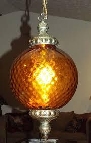 Vintage Hanging Swag Light Vintage Hanging Swag Pendant Light Lamp Fixture Amber
