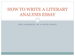 literary essay thesis examples co literary essay thesis examples