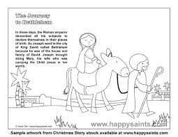 Small Picture Happy Saints Sample Coloring Page from Christmas Story eBook