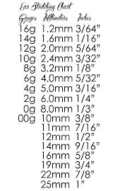 ear gauging chart actual size earring gauge measurements jewelry flatheadlake3on3