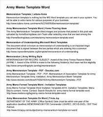 Memorandum Samples Templates Army Memorandum Templates Word Excel Fomats