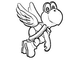 Coloring Pages For Kids Mario With Free Printable Yoshi Coloring