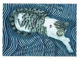 Cat on Lap - Wendy Burke | Lesbian art, Art, Animals