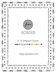 The letters are shown in a cursive font. Free Border Doodle Customize Online And Then Download Or Print