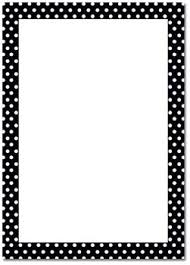 Border Black And White Printable Black And White Polka Dot Border Free Gif Jpg Pdf And