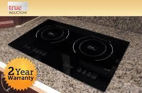 smart inspiration 2 burner induction cooktop true s2f3 counter inset double 120v black