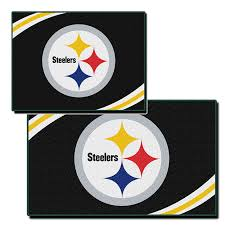 nw 142497 pittsburgh steelers 2 piece bathroom rug set
