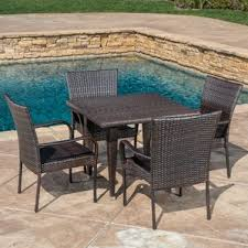 Gunning Outdoor 5 Piece Dining Set