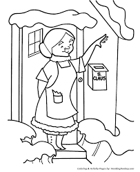 Christmas Eve Coloring Pages Mrs Claus Waves Christmas Coloring
