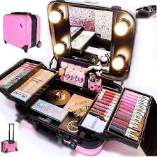 pro travel makeup kit with wheels Ñ handle nib good lighting is so