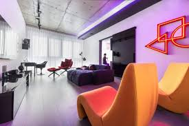 Light Living Room Colors Neon Lights Add Color And Uniqueness To A Moscow Apartment