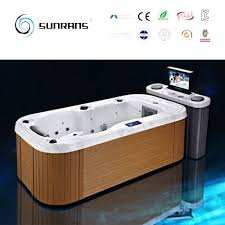 portable wooden mini indoor single person hot tub