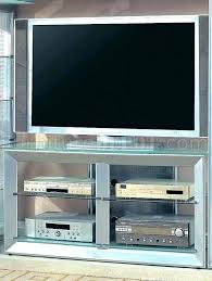 metal stand with glass shelves silver color contemporary w teal tv canada cabinet grey