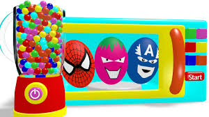 Learn Colors With Microwave Superheroes Surprise Eggs Coloring Learning Colors For Toddlers Printables L L L L