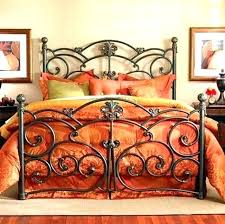 Awesome Black Wrought Iron Queen Bed Frame Home Improvement Cast ...