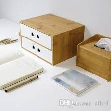 office file box. 2018 Bamboo Drawer Type Office Desktop File Box Cosmetic Storage Wholesale From Nikid, $17.09 | Dhgate.Com T