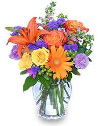 sunset waltz vase of flowers flowers in vase0