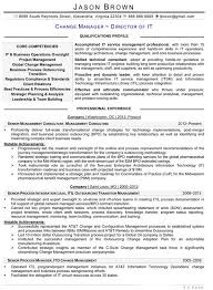 Business Process Manager Resume Sample Best Of Information Technology Resume Examples