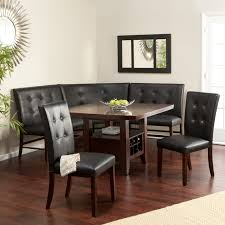 oak dining table and chairs. Image Of: Elegant Corner Bench Dining Table Set Oak And Chairs