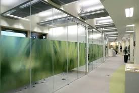 glass wall cost office divider partition walls interior