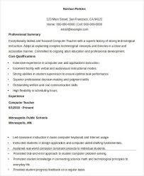 Teacher Resume Format 41 Fresh Teacher Resume Templates