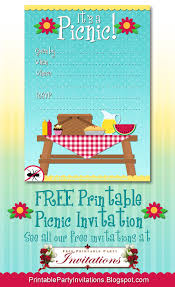 free printable picnic invitation party printables 4th of july templates