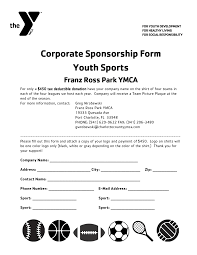 sponsorship forms for fundraising sponsor forms template format of a business report word free