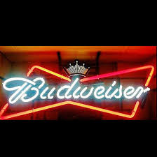 Personalized Light Up Bar Signs Budweiser Bow Tie Neon Beer Sign Neon Beer Signs Neon Bar