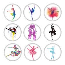 <b>10pcs</b>/<b>lot Mixed</b> Colors 18mm Glass Snap Button Jewelry Dancing ...
