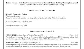 Phlebotomist Resume Badak Job Description For Photo Examples
